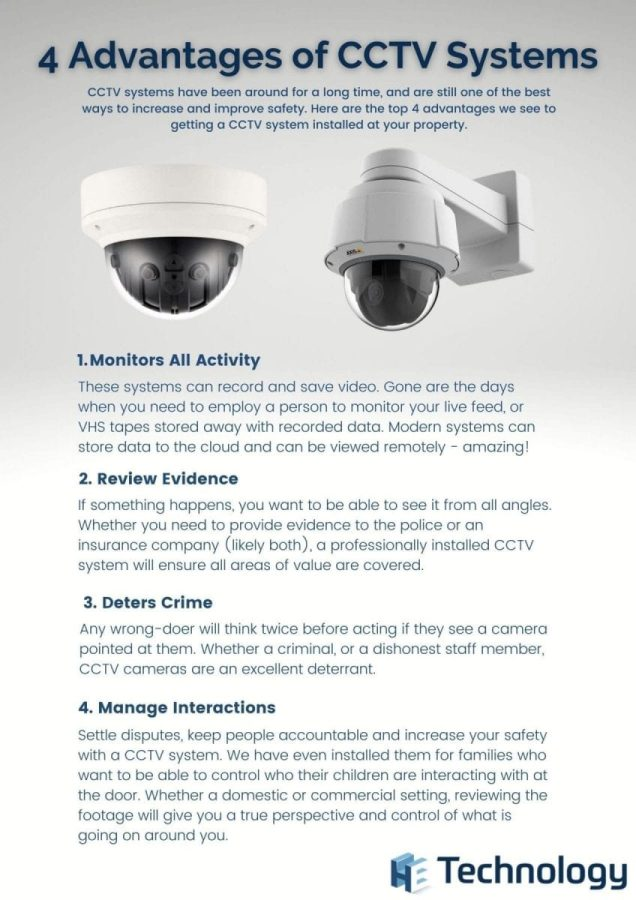 Infographic about 4 Advantages of CCTV Systems