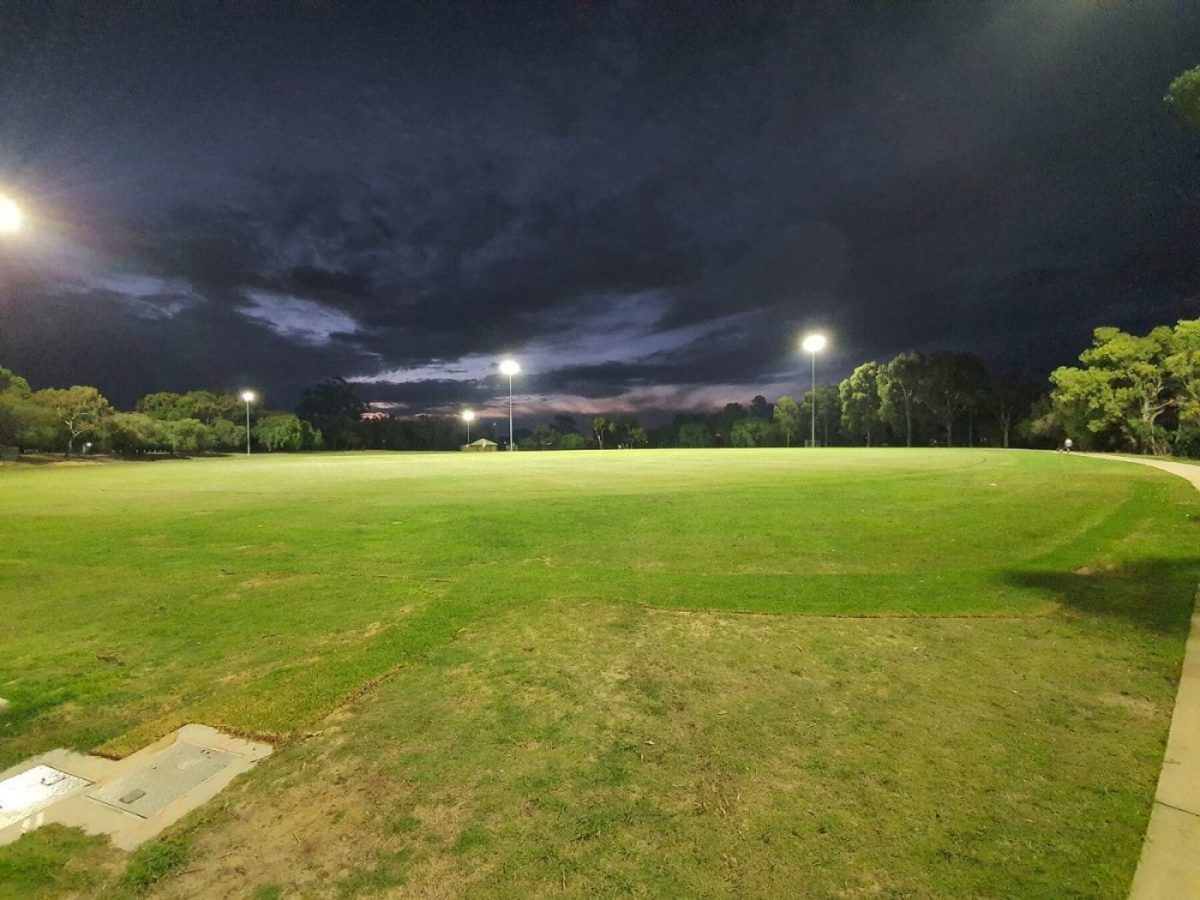He Technology Installed Lighting Tower in Paloma Park Image 2